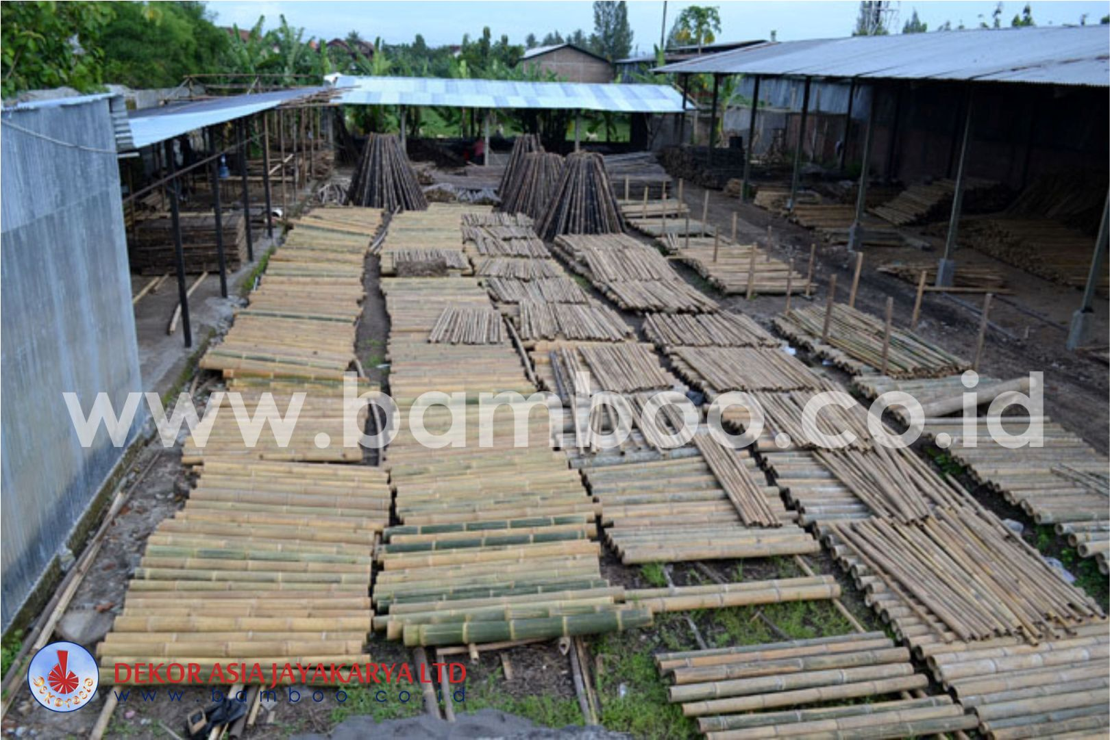 BLACK BAMBOO POLE AND NATURAL BAMBOO POLES