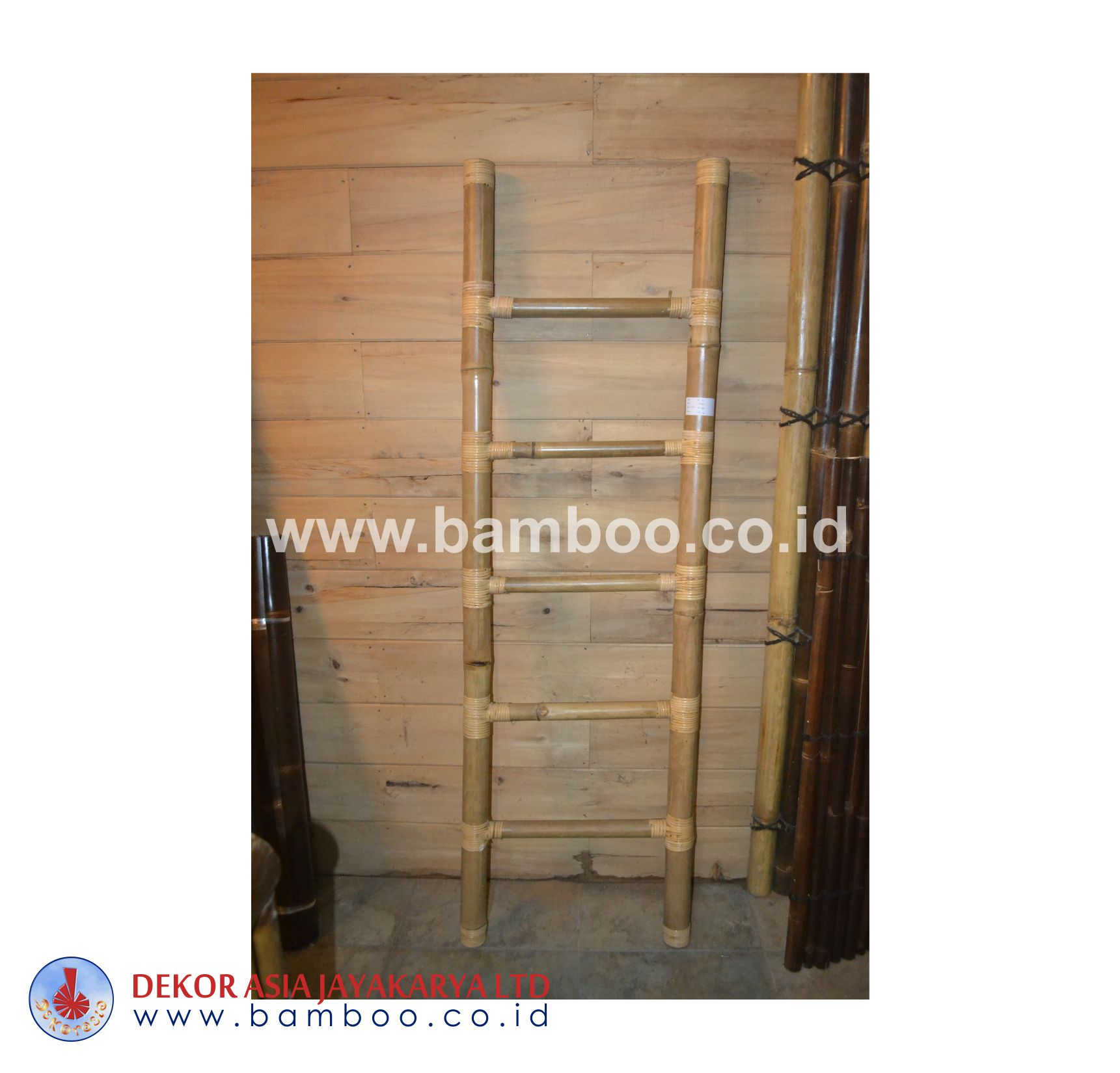 Natural Bamboo Ladder 5 Rungs