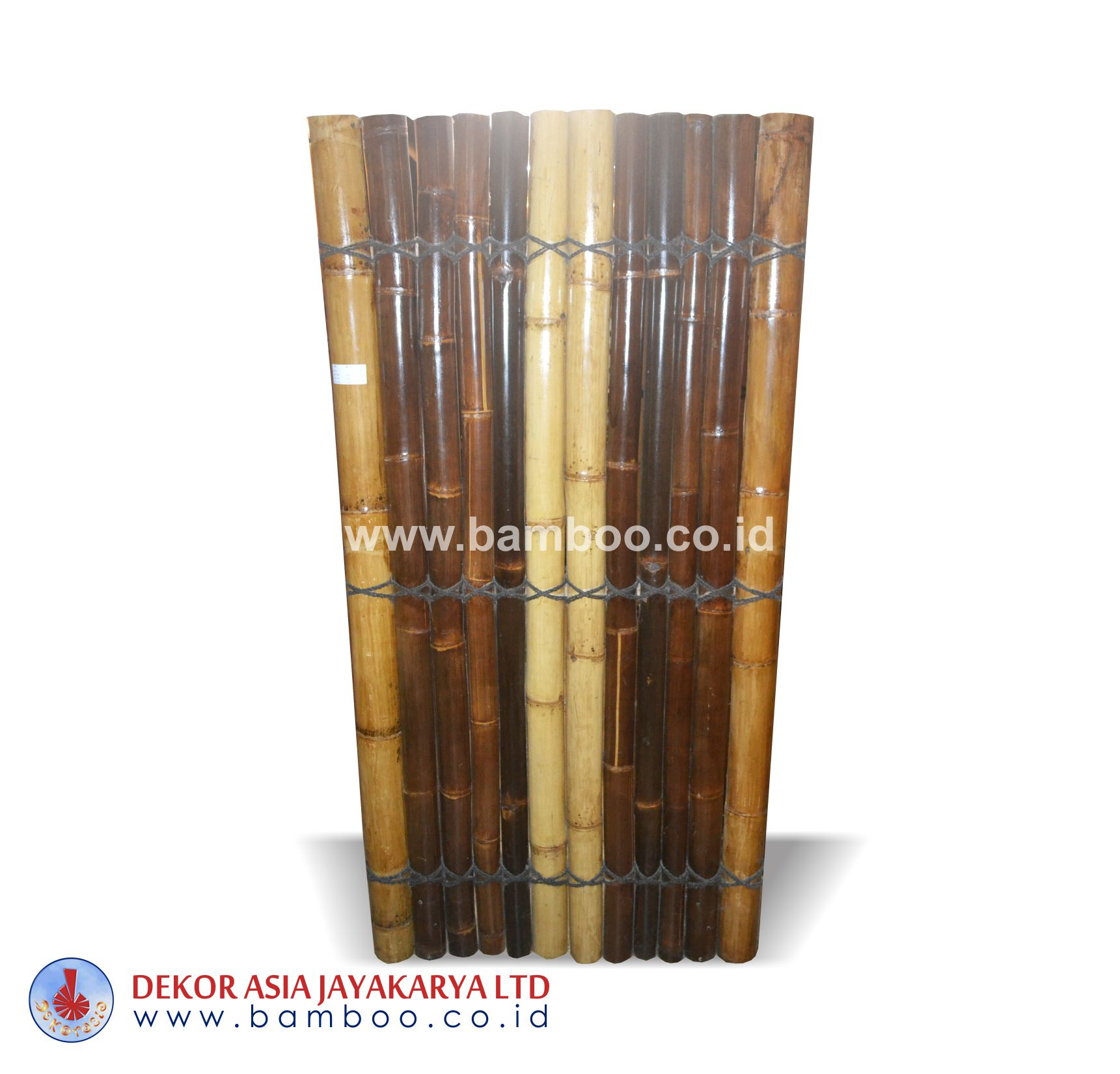 Bamboo Fences Black Natural