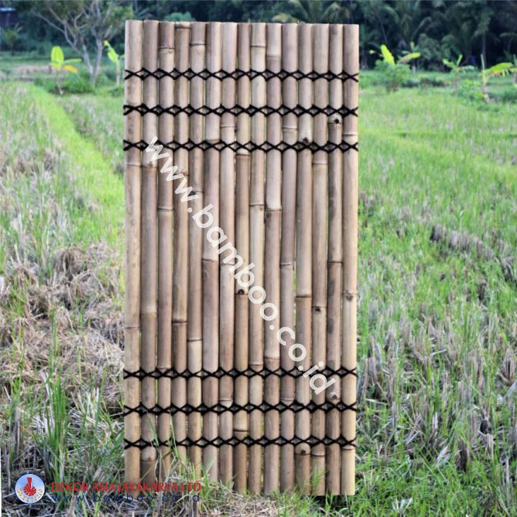 Natural Bamboo Half Raft Panel - Bamboo Panel and Bamboo Screen