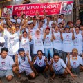 Stafs and workers of DEKOR ASIA JAYAKARYA .LTD, In Support Of The Presidential JOKOWI JK