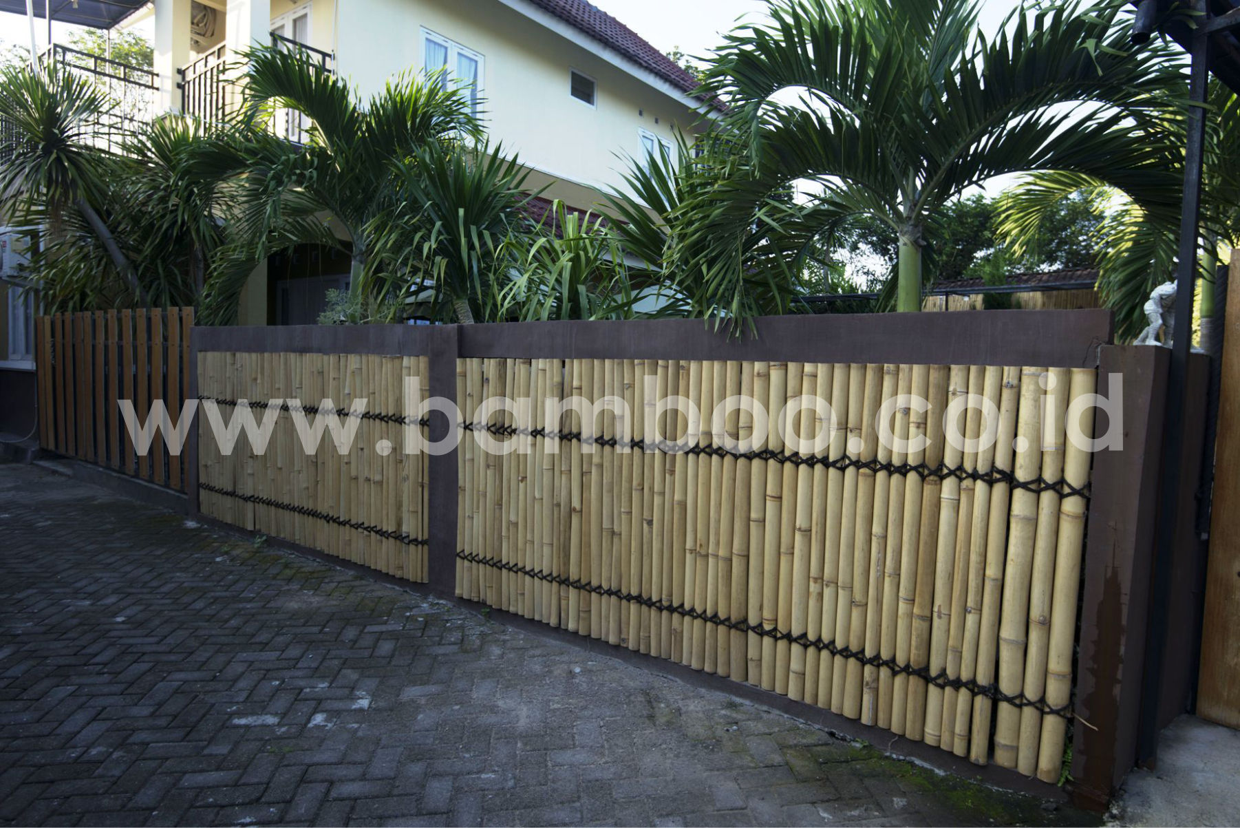 Bamboo Fencing Panels Installation Front Bamboo